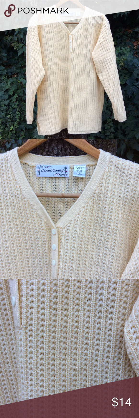 Soft. Yellow. Sweater. Vintage. Lovely | Tunic sweater, Scoop neck ...