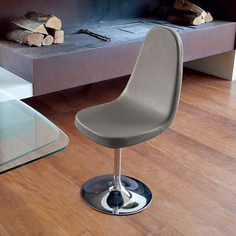 Blade P Taupe Swivel Chair By Domitalia Dining Room