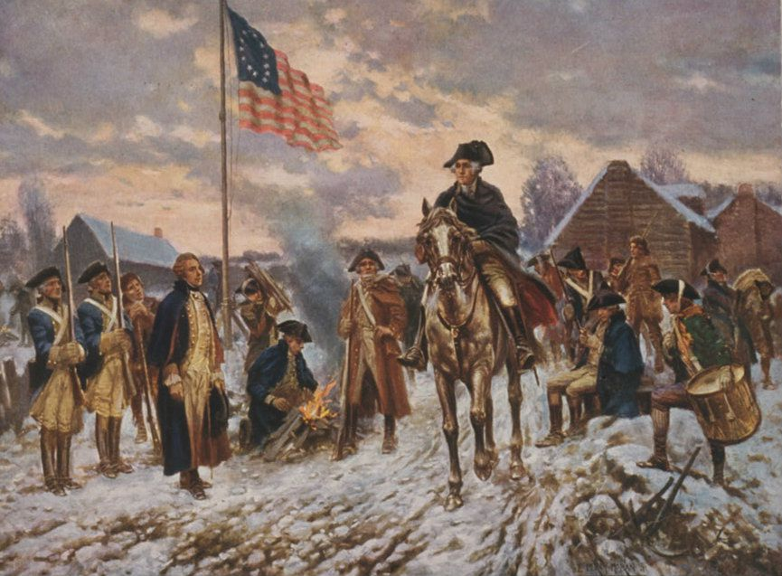 General George Washington At Valley Forge Let Tyrants Shake Their