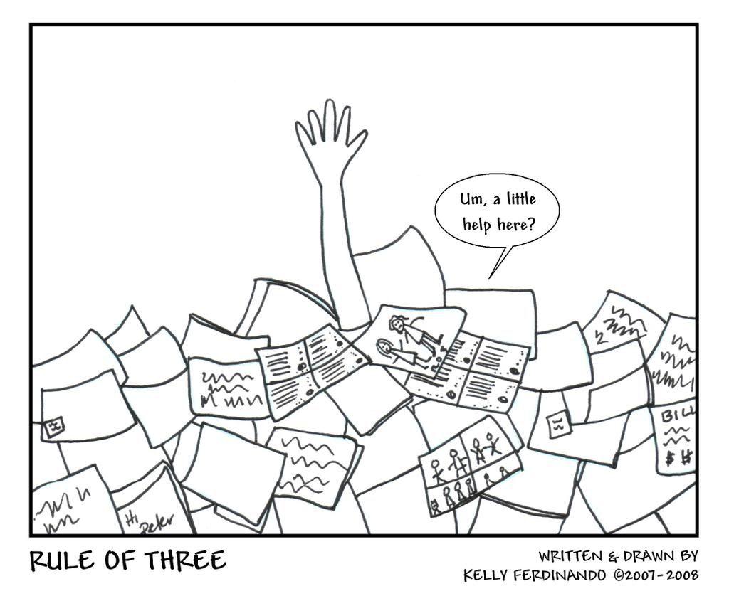 Drowning In Paperwork Filler Strip 4