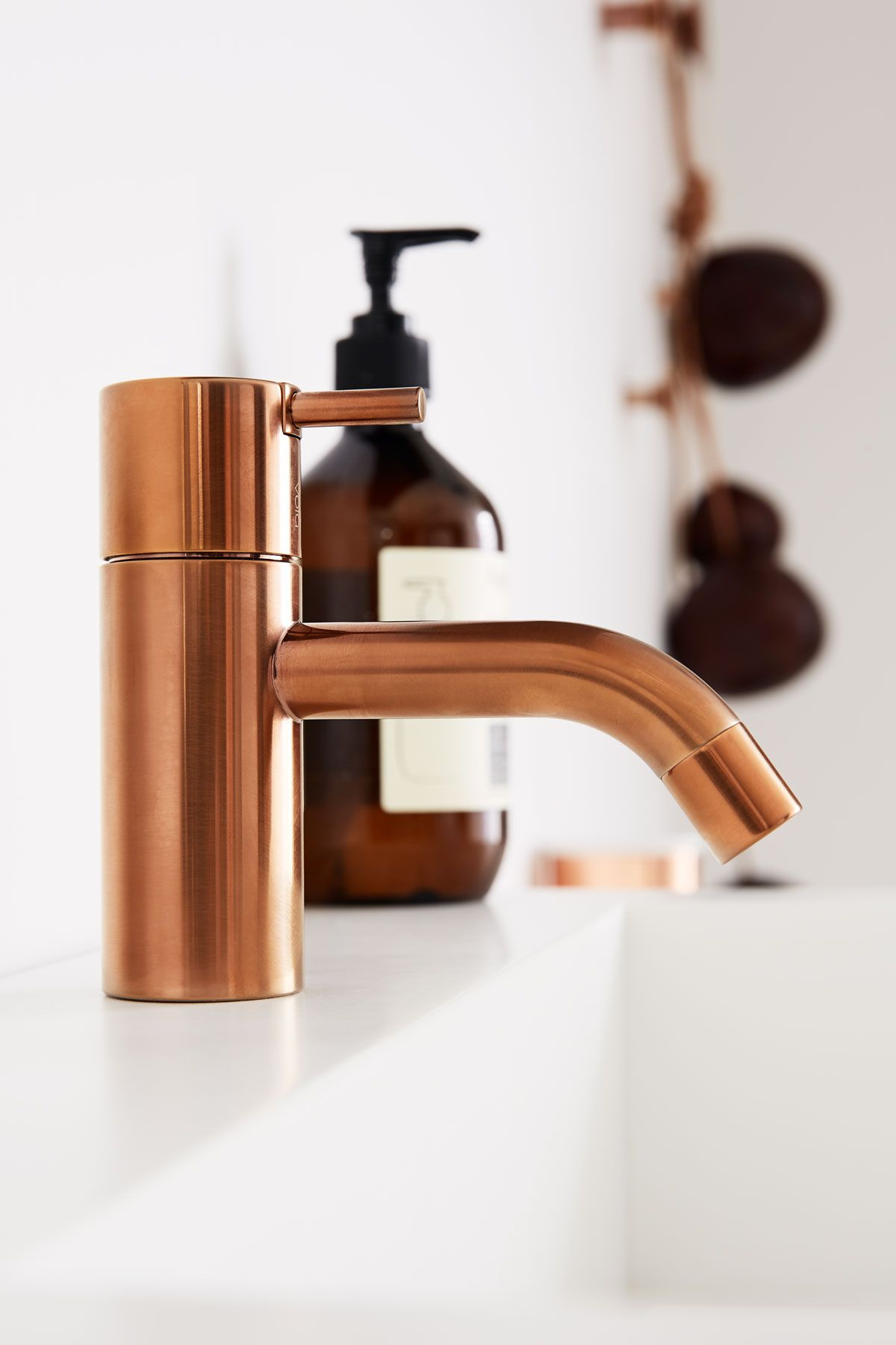 Copper Basin Mixer Tap Vola Hv1 Designed By Arne