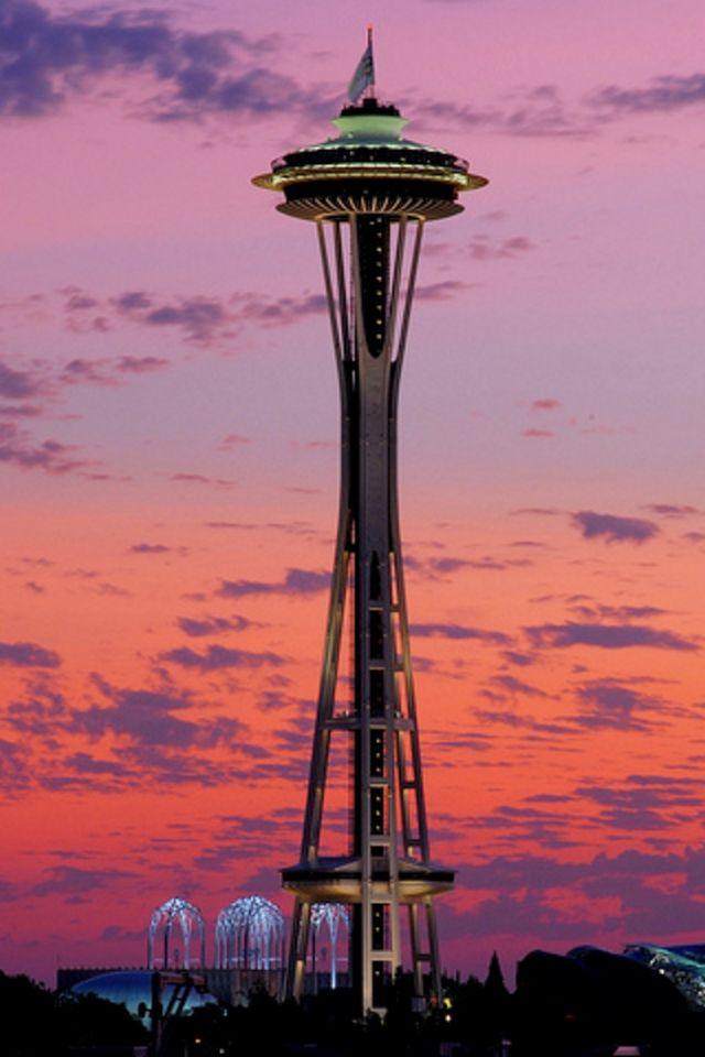 Space Needle Iphone Wallpaper Hd Space Needle Travel Space Needle Seattle
