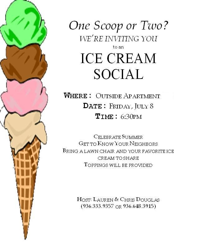 Ice Cream Social   Ice Cream Social Template Ice cream, you scream ...