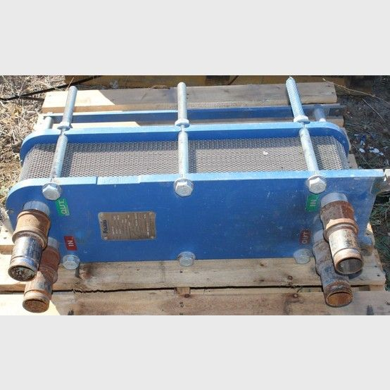 Polaris Plate Heat Exchanger.  Model: 5-15-1G-48. Design pressure: 150 psi. Design temperature: 230°F/110°C. Inlet: 2 inch. Outlet: 2 inch. Features:  Compact Design: lightweight and use...