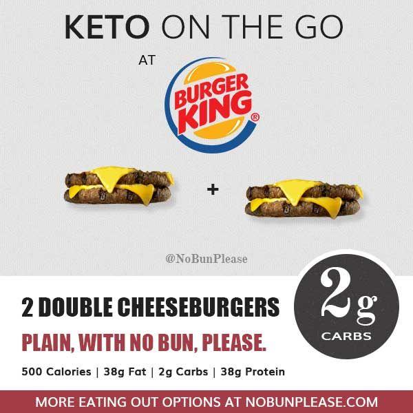 low carb diet burger king