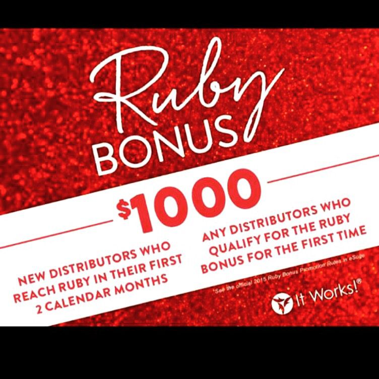 Only 1 day left to earn this $1000 bonus by joining it works! #itworks #wholenothalevel