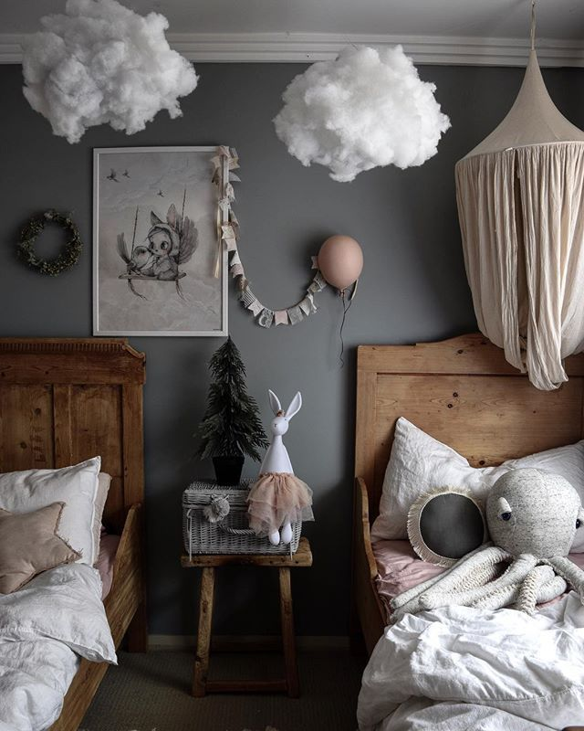 """Mel on Instagram: """"""""The Clouds,~ The only birds that never sleep."""" ———————— Victor Hugo . . . . #closertomydreams #kidsrooms #kidsstyling #scandicliving…"""""""