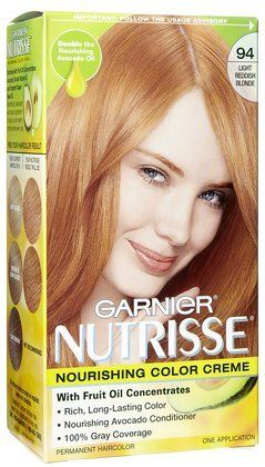 Amazoncom Garnier Nutrisse Hair Coloring 94 Light Reddish Blonde