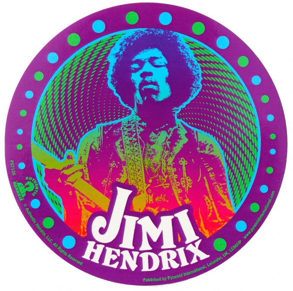 Jimi Hendrix Psychedelic Vinyl Sticker Vinyl Sticker Jimi Hendrix Hendrix [ 993 x 1000 Pixel ]