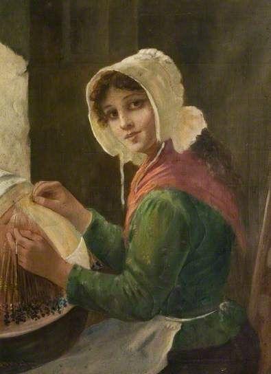David Wool Haddon Young Woman Lacemaking