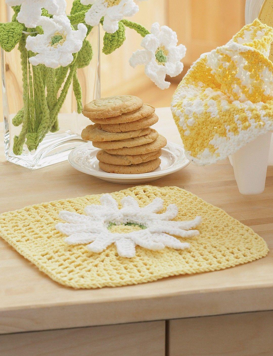 Yarnspirations.com - Lily Daisy Fancy Dishcloth - Patterns ...