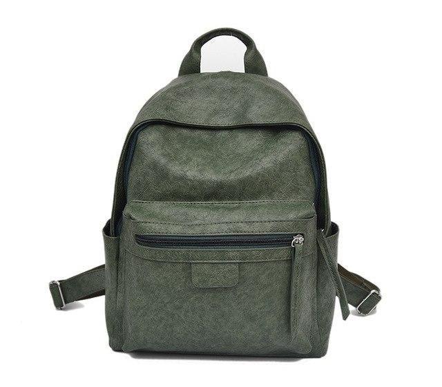 a7c1abad124d3 vintage leder rucksack für frauen taschen mode jugendliche mädchen rucksack  weiblichen bagpack Soft Style