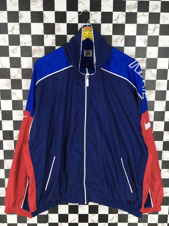 10449941d1 Vintage NIKE Jacket Windbreaker Multicolor Large 90's Nike Swoosh ...