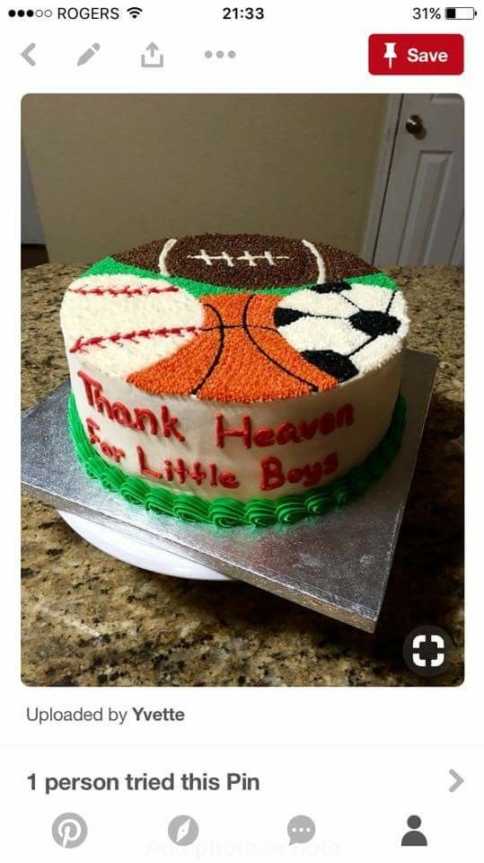 Excellent Sports Cake Iced W No Fondant Sports Birthday Cakes Sports Funny Birthday Cards Online Alyptdamsfinfo