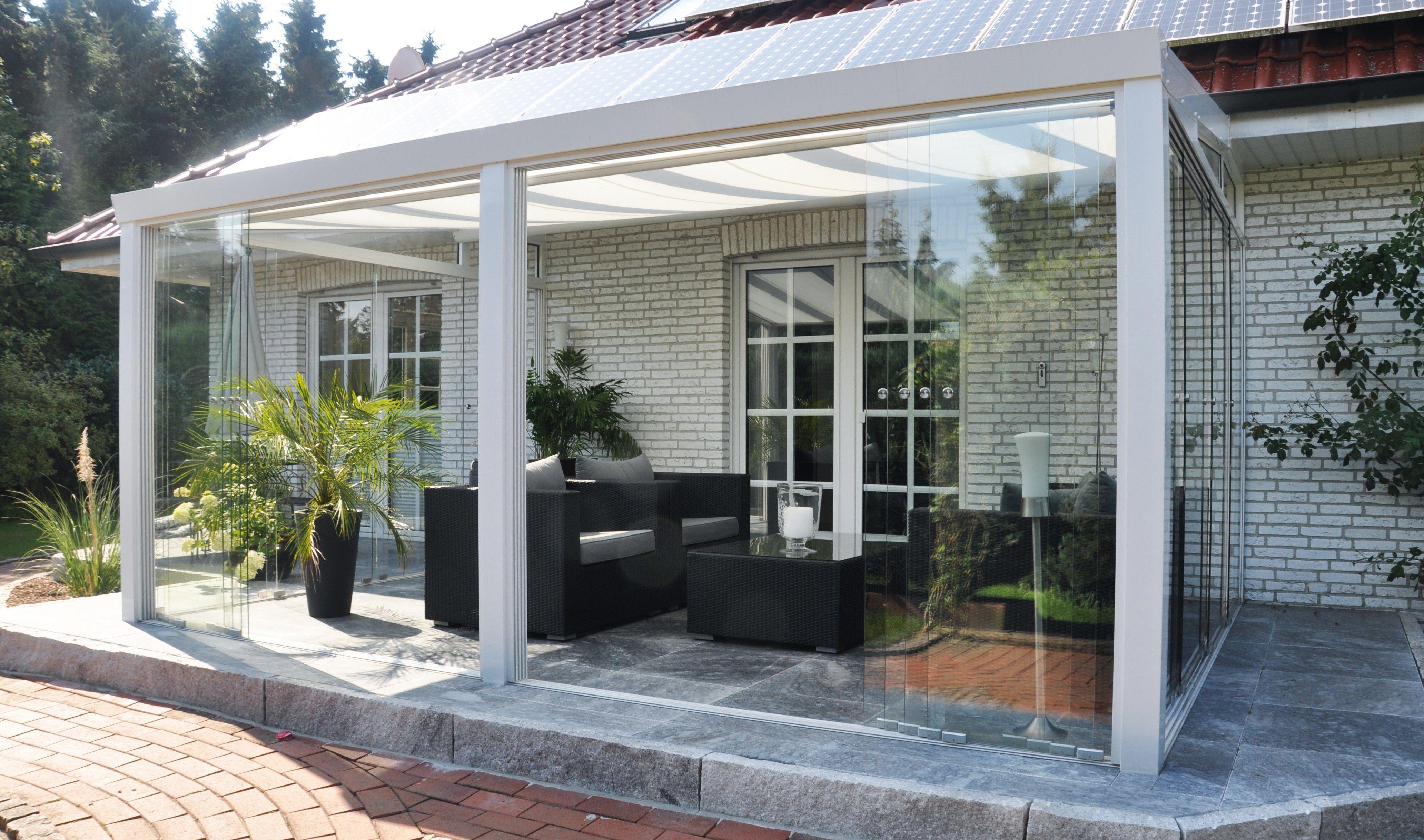 Veranda In Legno Terrazzo veranda completa con vetrate scorrevoli   veranda, portico