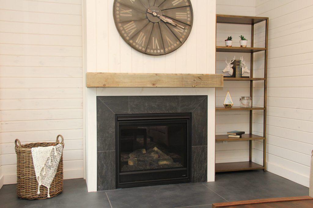 Dark Grey Marble Tile Fireplace Fireplace Tile Marble
