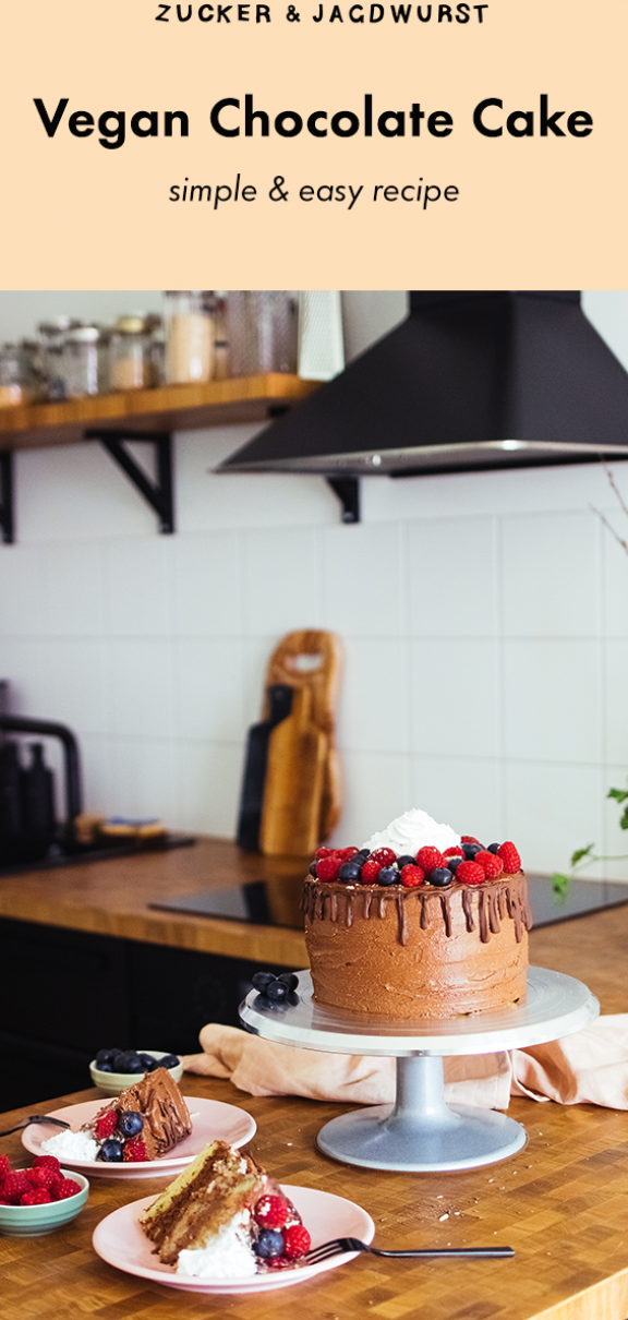 Vegan Chocolate Cake With 4 Different Layers Recipe Easy Birthday In 2020 Pumpkin Cupcake Recipes Vegan Birthday Cake Vegan Chocolate Cake