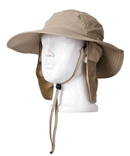 5e061ec5 Home Prefer Adult UPF 50+ Sun Protection Cap Wide Brim Fishing Hat with  Neck Flap