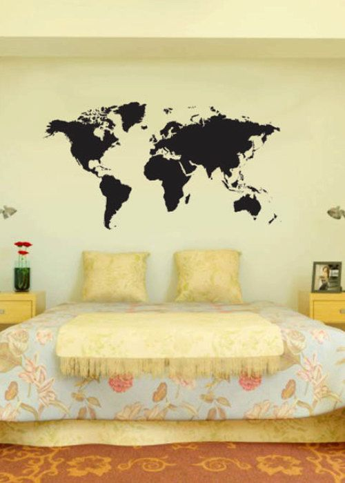 World Map decal - Map of the world A256 | Pinterest | Vinyl decor ...
