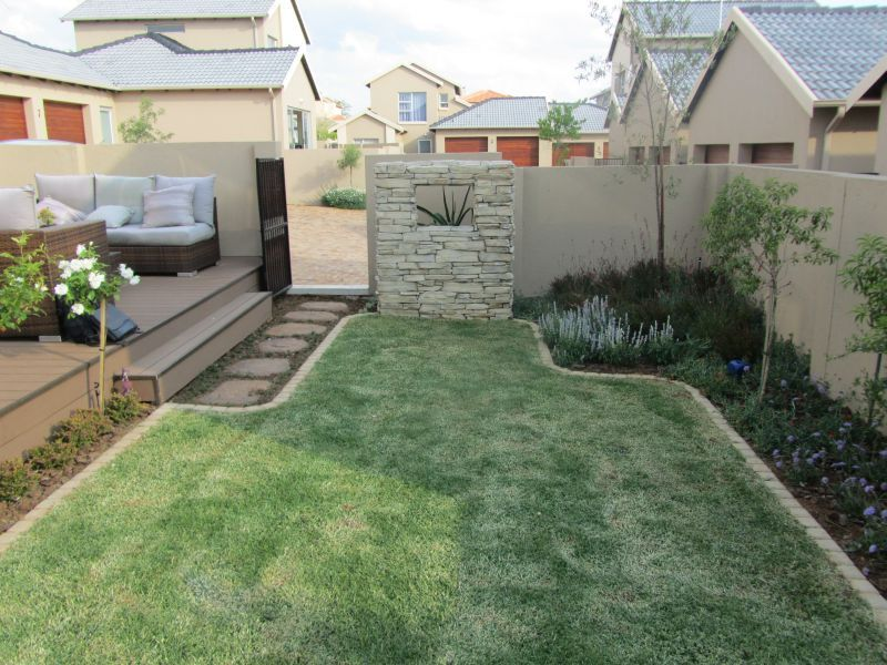 by too much hard landscaping in this small garden we positioned