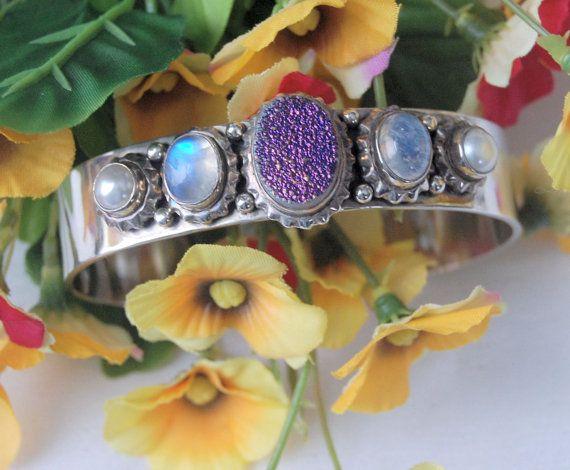 Artisan Made Sterling Silver 925 Gemstone Bracelet by WandasGold
