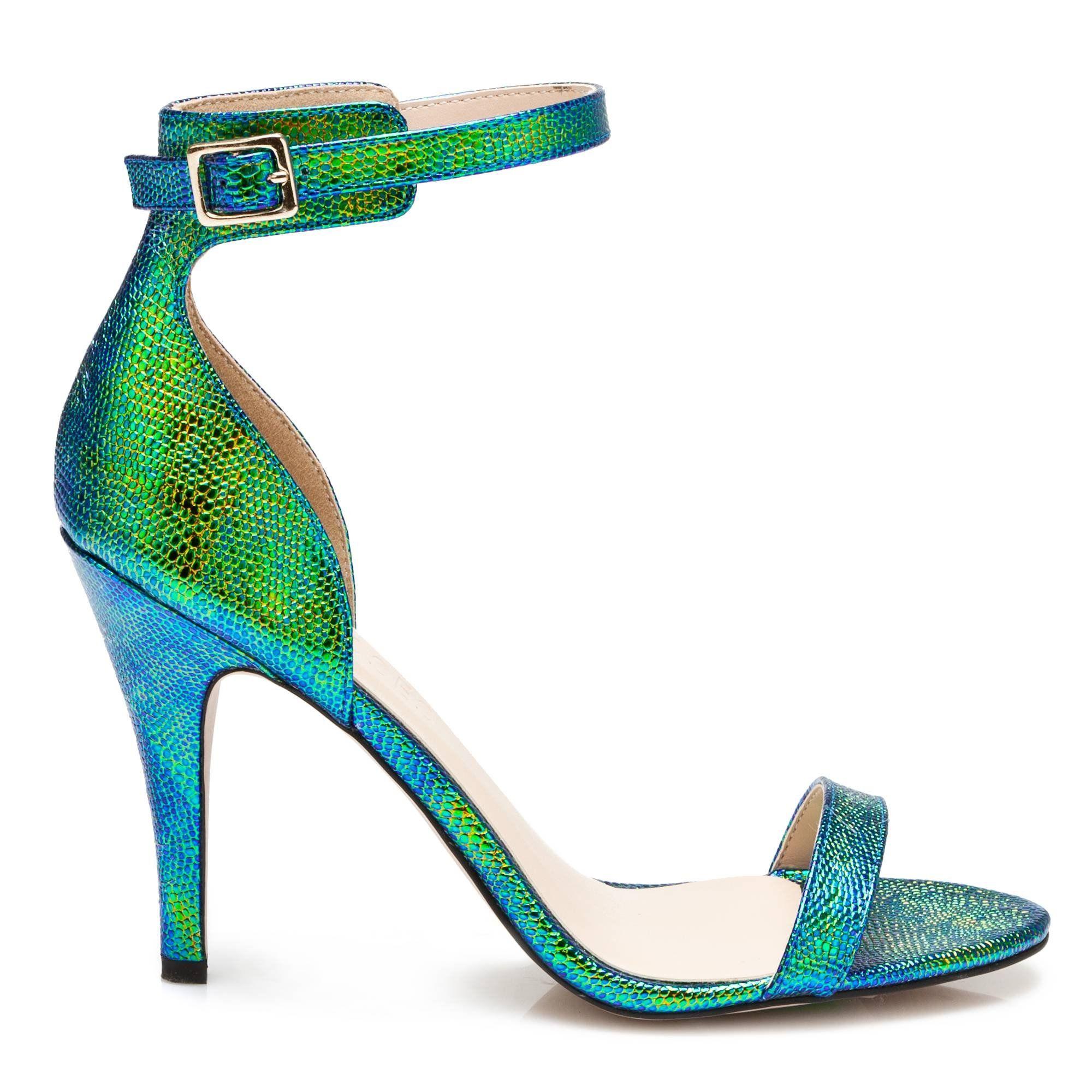 Sandales à talons en cuir imprimé reptileJonak sidkTn