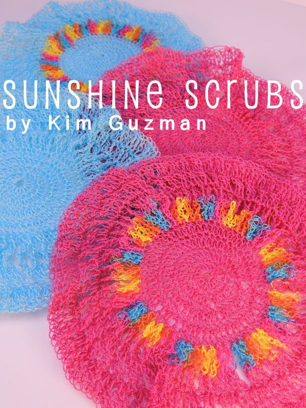 Crochet Scrubbies made with nylon yarn so that they work effectively ...