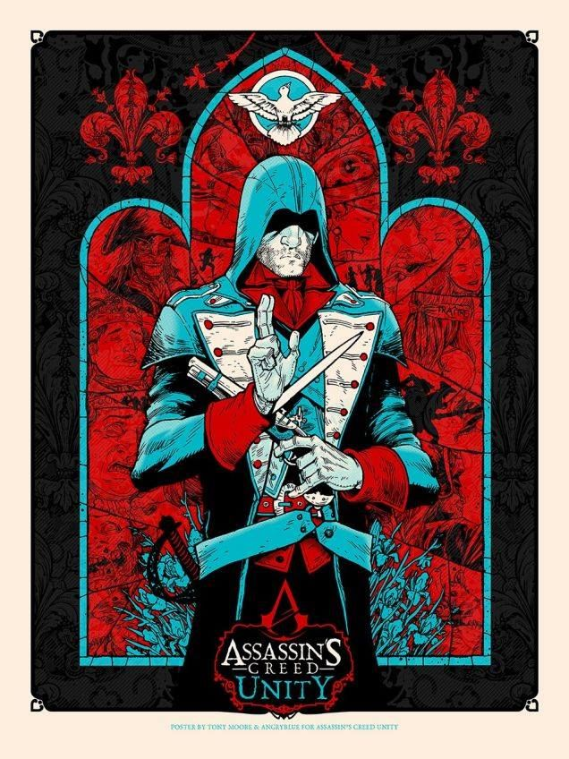 SDCC poster by Tony Moore & Angryblue for the upcoming 'Assassin's Creed: Unity'