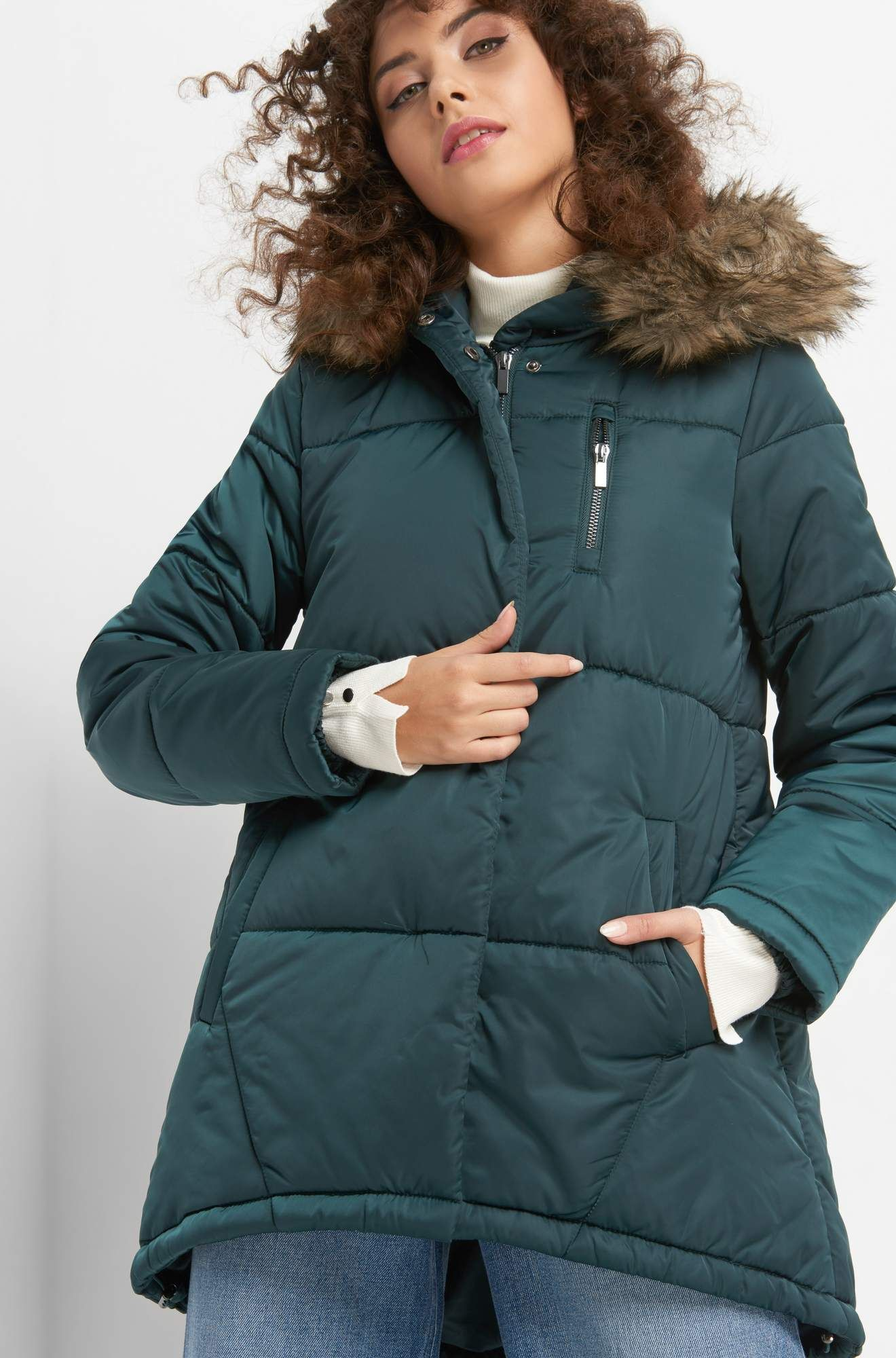 c6b1ea5ebb556c Winterjacke mit Kapuze von ORSAY | Jacken & Mäntel Damen | Winter ...