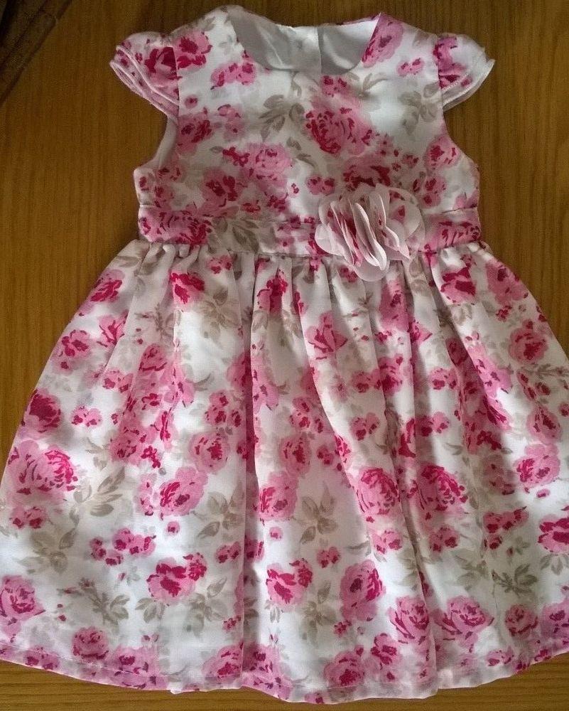 c03d1a0ce Baby Girls Pretty Rose Pattern Dress 3-6m   18lb 62-68cm George ...