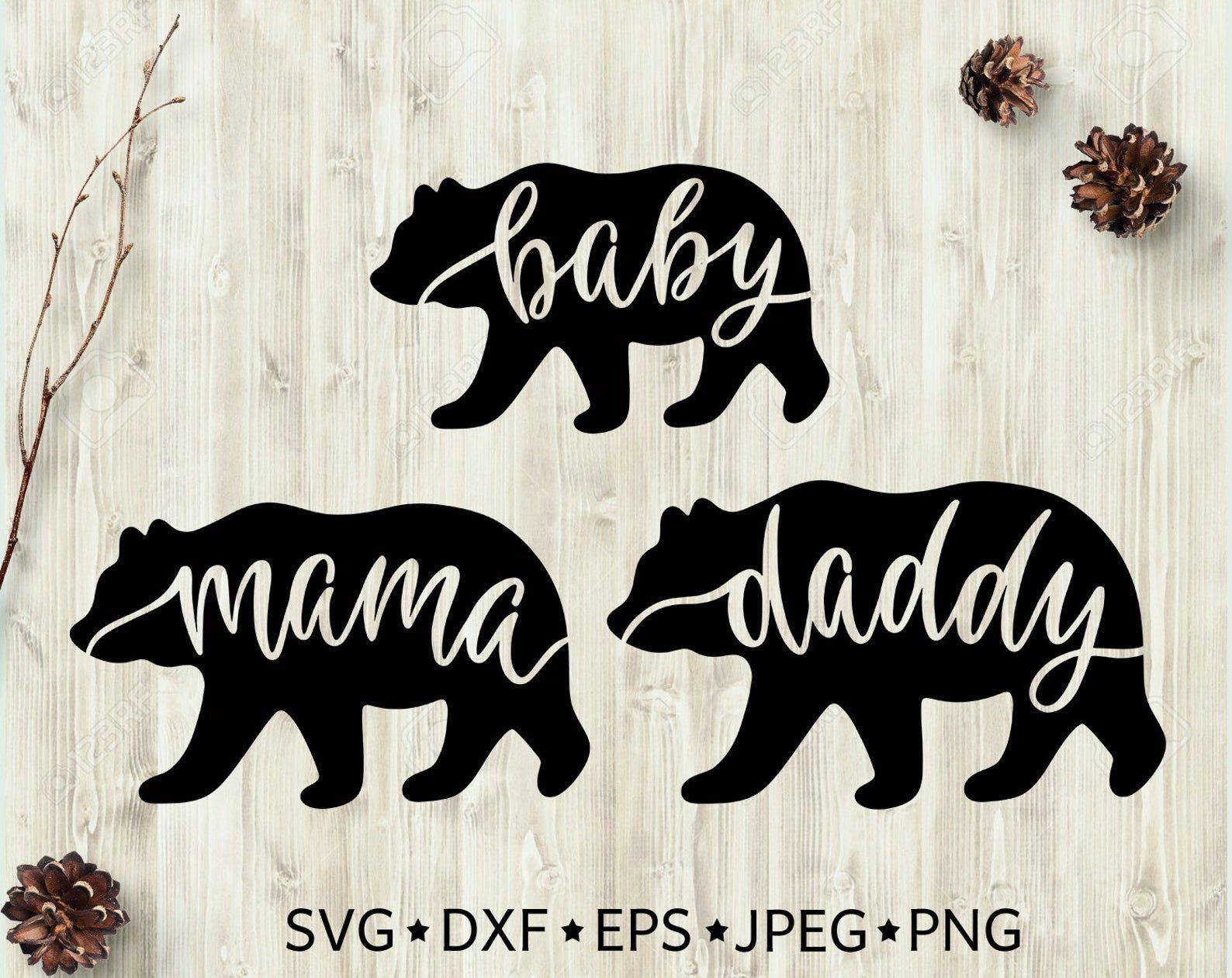 Mama Bear Svg Daddy Bear Svg Baby Bear Svg Bear Family Svg Etsy In 2021 Baby Bear Shirt Mama Bear Bear Silhouette