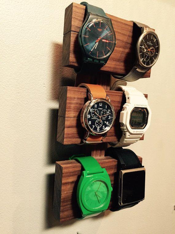 Walnut Watch Display By Mooncitygoods On