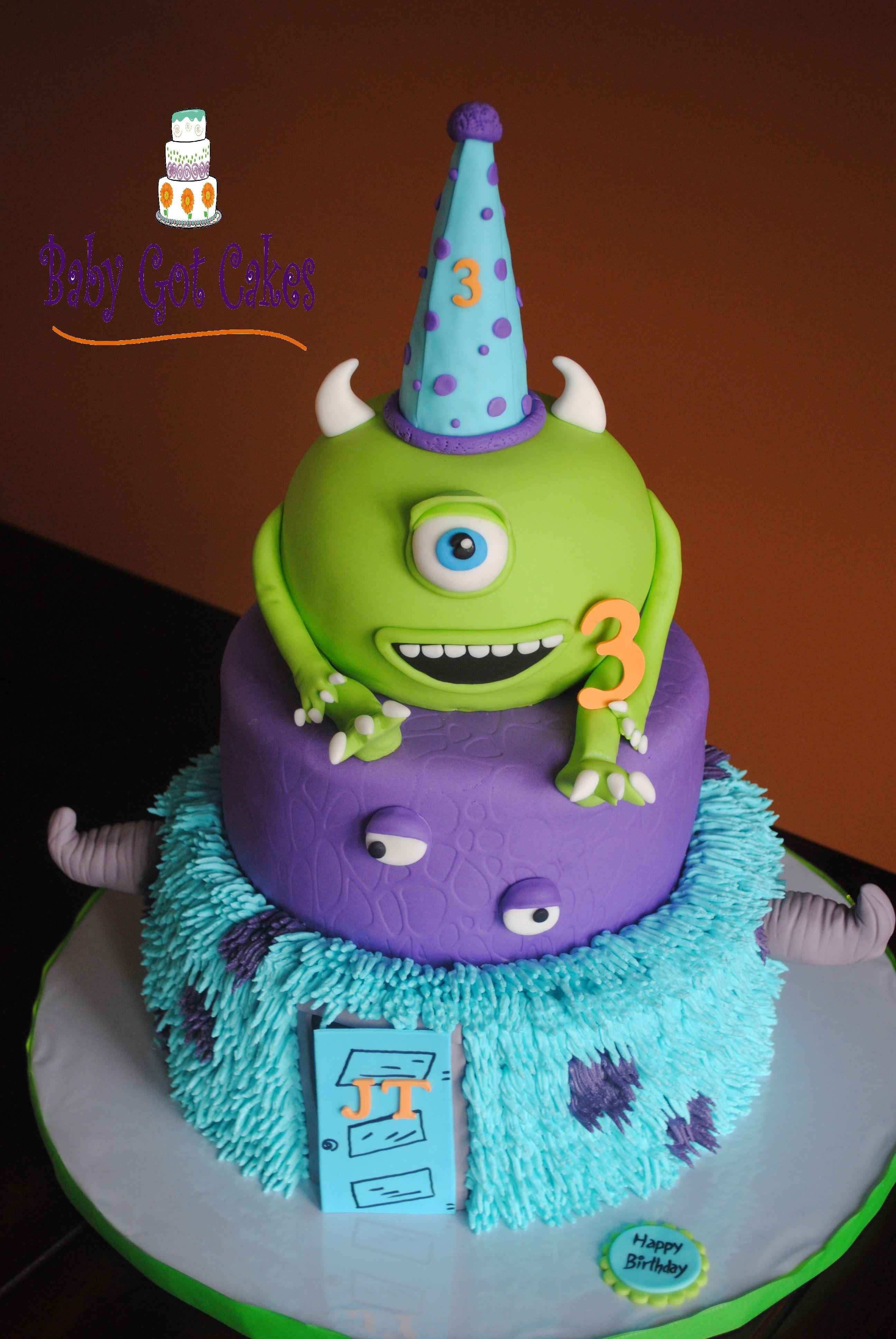 Monsters Inc Three Tier Boys Birthday Cakes Pinterest Cake