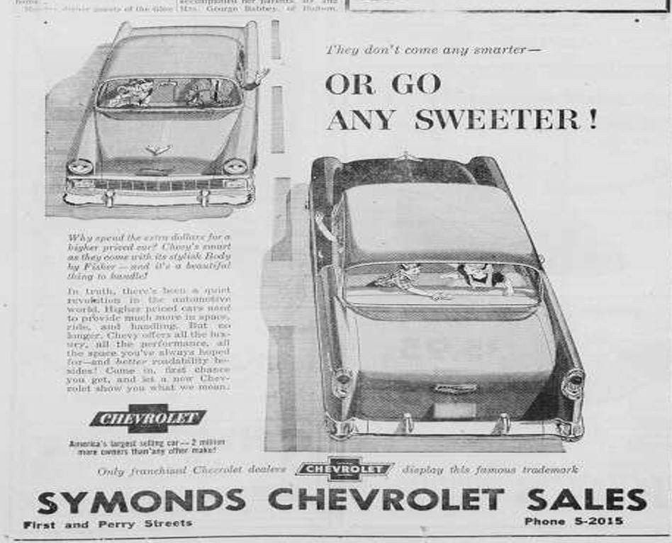 I Found Some Old Original Local Newspapers 1955 1956 Crescent News With Original Ads For The Local Chevrolet Dealer Chevrolet Dealership Chevrolet Dealership
