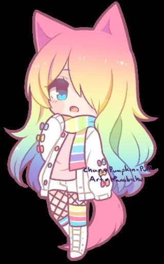 Cute Rainbow Girl Gacha Life Google Search Ilustrasi Karakter Lukisan Hewan Ilustrasi Hewan