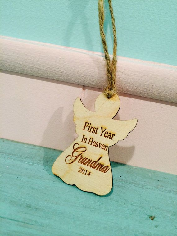 In heaven ornament , first christmas without you ornament pets, loved ones , deceased , wood ...