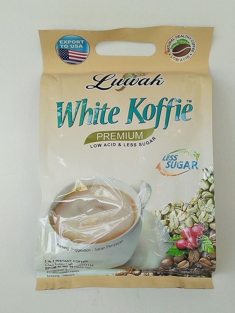 LUWAK White Koffie LOW SUGAR (3in1) Instant Coffee 14oz