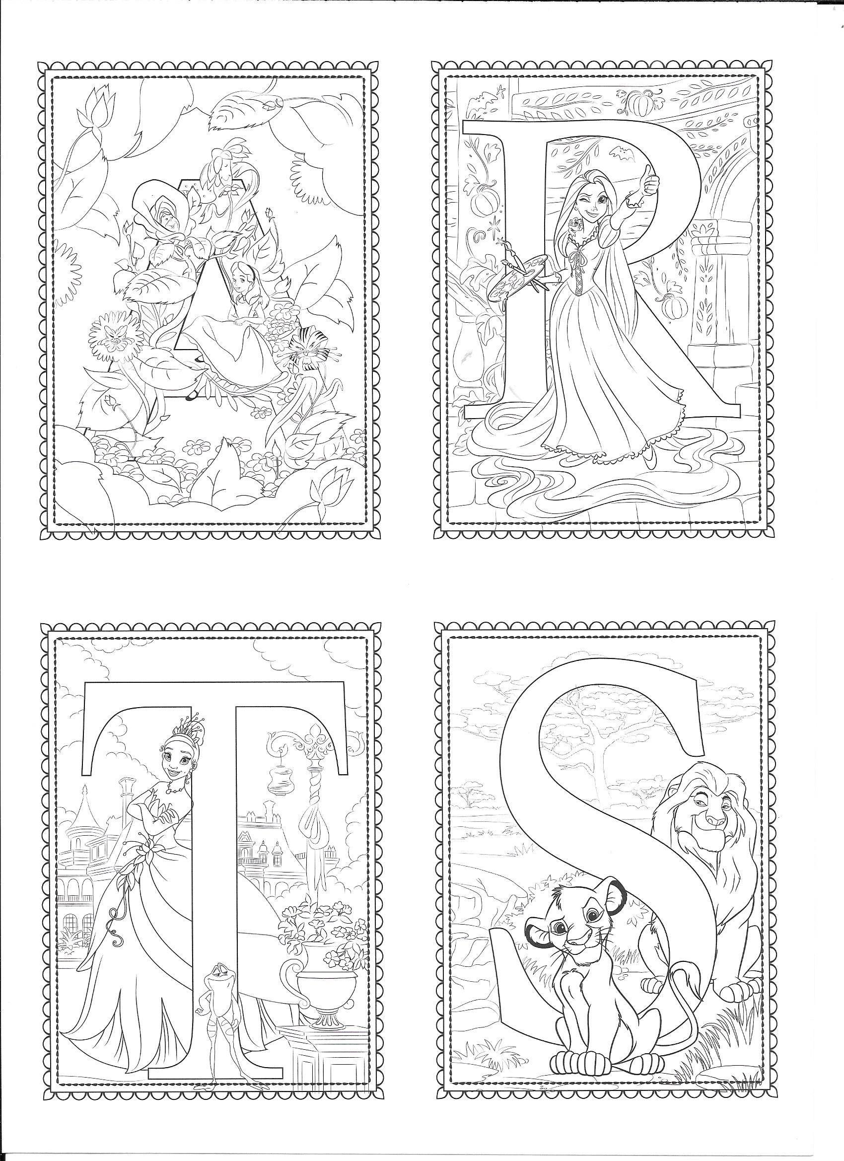Pin By Mary Paolini On Colorando Disney Alphabet Coloring Pages Alphabet Coloring Pages