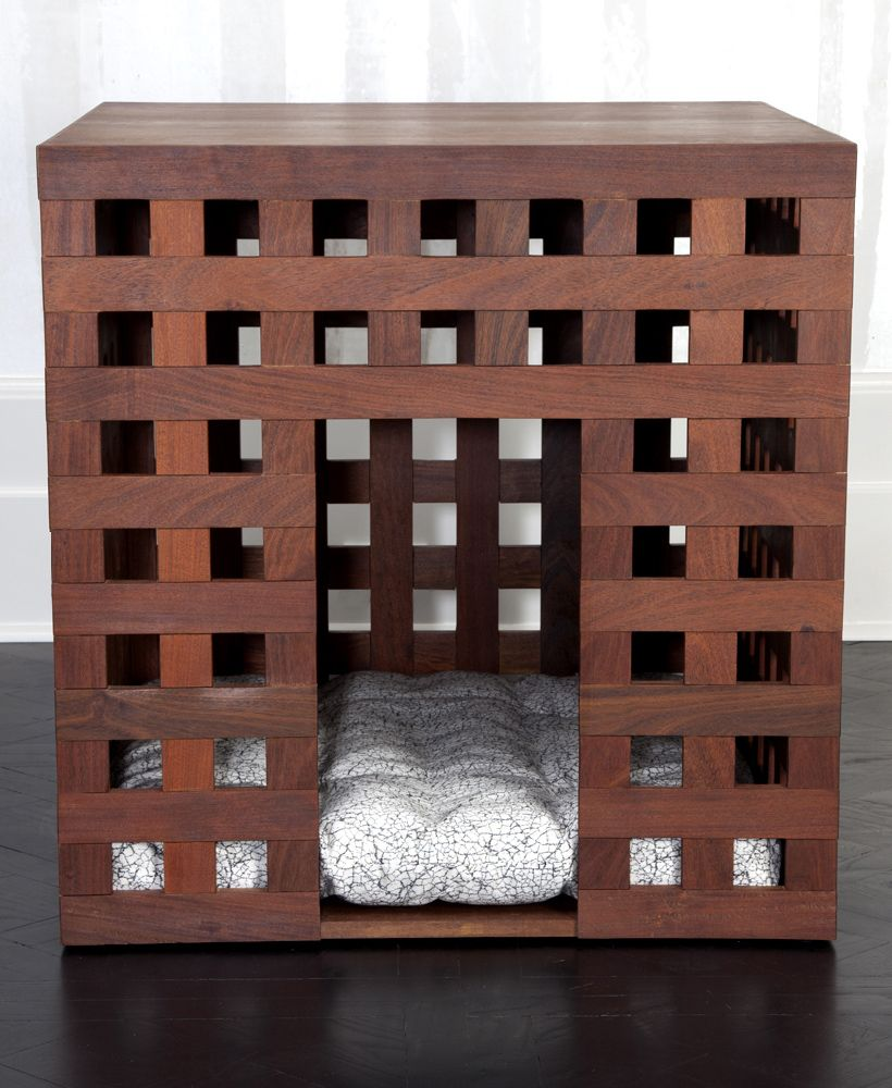 KELLY WEARSTLER | JUXTAPOSE DOG HOUSE. Made from Ipe Wood and featuring a…