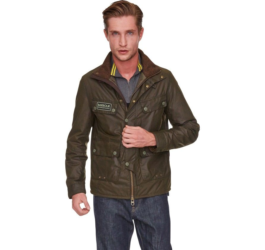 Barbour International Trail Olive Wax Jacket