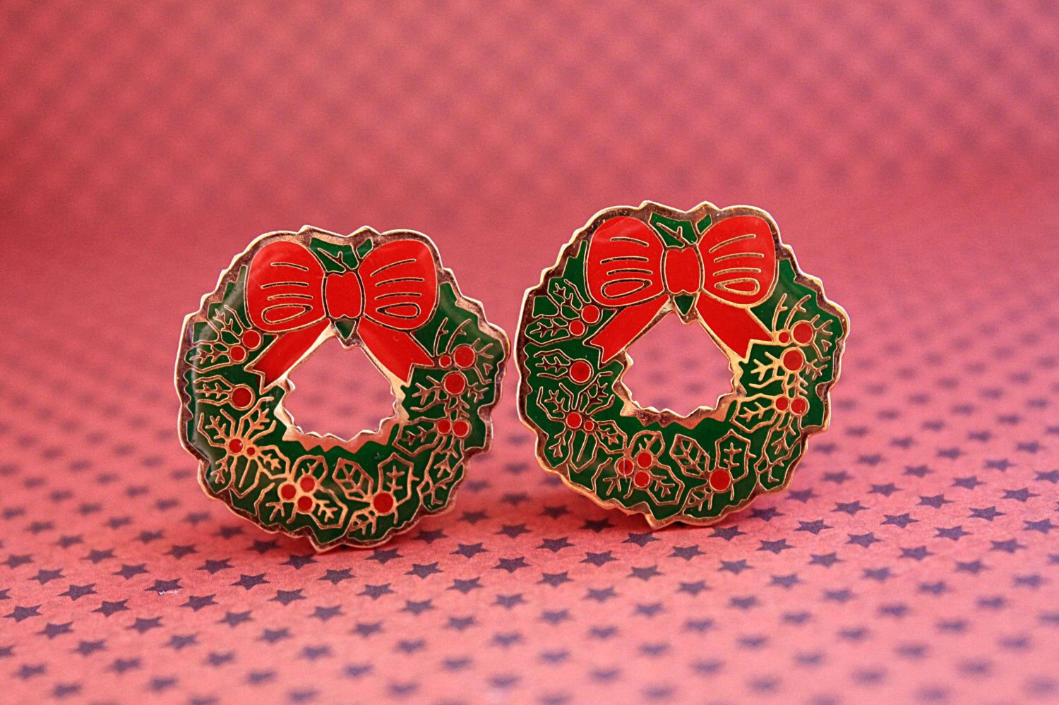 Christmas wreath plugs for gauged ears mm