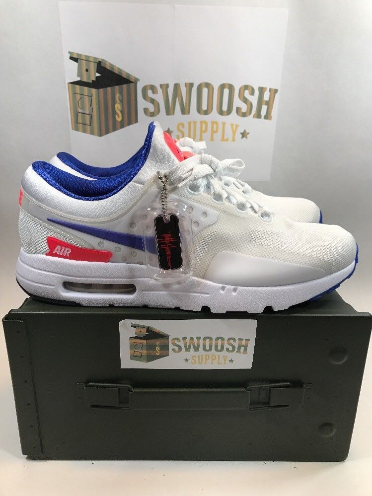 New Nike Air Max Zero QS White Ultra Marine Solar Red 789695 105 Size 8