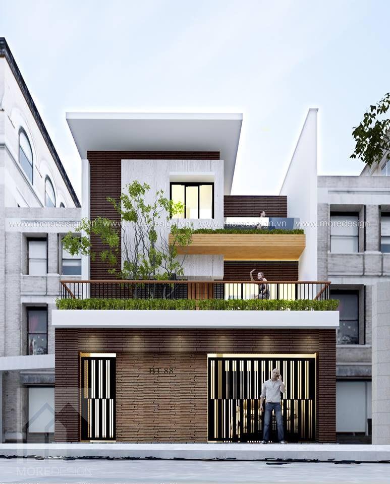 Mẫu mặt tiền nhà phố 2 tầng đẹp