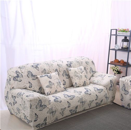 Fitted Chair Covers Ebay Lazy Boy Office Replacement Parts 7 69 Butterfly Spandex Stretch Sofa Cover Pet Protector For 1 2 3 4 Couch Home Garden