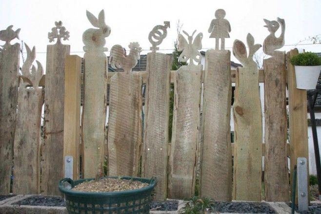 Zaun 6 gartendeko Pinterest Zäune, Super und Gärten - gartendekoration aus altem holz
