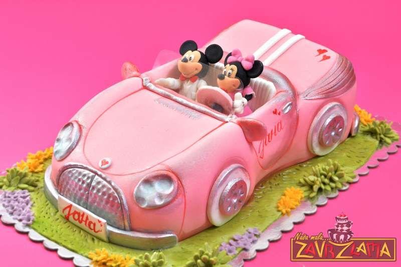 Mickey And Minnie CakePink CarCake For GirlsDecije torte