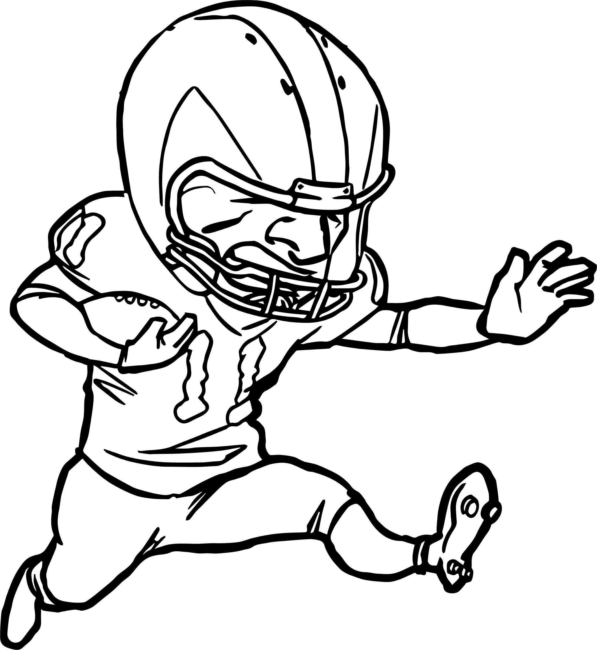 awesome Running Player Playing Football Coloring Page ...