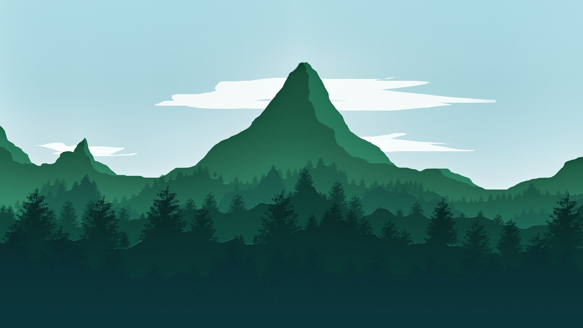 Firewatch like wallpapers; link in comments. Wallpaper