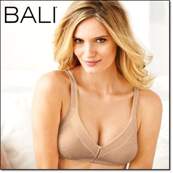 a7cf895b10 Bali® Double Support® Minimizer Bra (3335) Wirefree. Nylon spandex. Hand  wash. Imported. White or Nude  34-42C