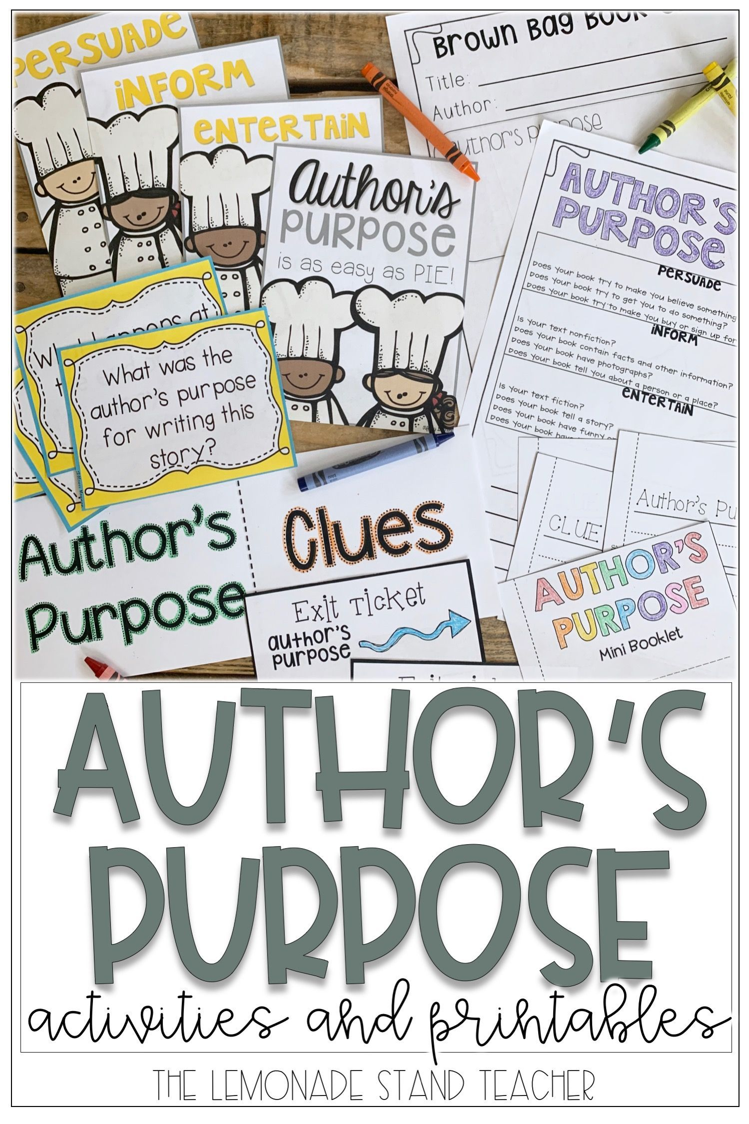 Author S Purpose Activity Packet